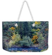 The Spokane River In The Fall Colors Weekender Tote Bag