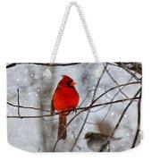 Blue Eyes In The Snow Cardinal  Weekender Tote Bag