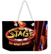 The Stage On Broadway In Nashville Weekender Tote Bag by Dan Sproul