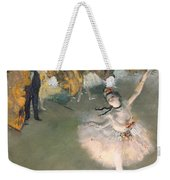 The Star Or Dancer On The Stage Weekender Tote Bag