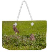 The Stares Of The Burrowing Owls Weekender Tote Bag