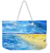 The Storm Arrives At The Beach Weekender Tote Bag