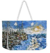The Storm Weekender Tote Bag by Beverly Livingstone