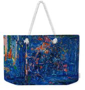 The Street Cafe Oil On Canvas Weekender Tote Bag