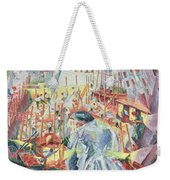 The Street Enters The House Weekender Tote Bag by Umberto Boccioni