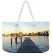 The Sun Begins To Set On Long Beach Island Weekender Tote Bag