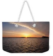The Sun Coming Up On The Chesapeake Weekender Tote Bag
