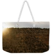 The Sun Sets Behind The Canyon Weekender Tote Bag