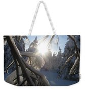 The Sun Through Snowy Branches Weekender Tote Bag