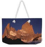 The Sunrise Of Fire Mt Fitzroy Weekender Tote Bag