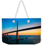 The Sunshine Under The Sunshine Skyway Bridge Weekender Tote Bag by Rene Triay Photography