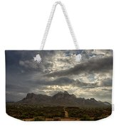 The Superstition Mountains After A Storm  Weekender Tote Bag