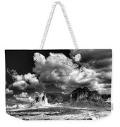 The Superstitions - Black And White  Weekender Tote Bag