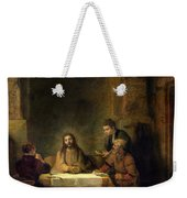 The Supper At Emmaus, 1648 Oil On Panel Weekender Tote Bag