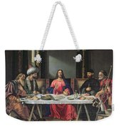 The Supper At Emmaus Weekender Tote Bag by Vittore Carpaccio