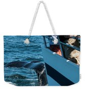 The Tail Of A Whale Right In Front Weekender Tote Bag