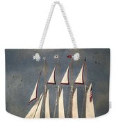The Tall Ship Windy Weekender Tote Bag