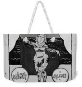 The Tattoed Girl In Black And White Weekender Tote Bag