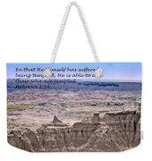 The Temptation Of Jesus Hebrews 2 18 Weekender Tote Bag