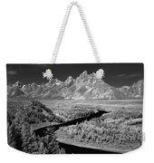 309217-the Teton Range From Snake River Overlook Weekender Tote Bag