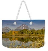 The Tetons And Fall Colors Weekender Tote Bag