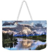 The Tetons From Oxbow Bend Weekender Tote Bag