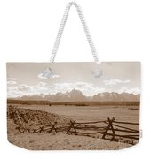 The Tetons In Sepia Weekender Tote Bag