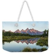 The Tetons Reflected On Schwabachers Landing - Grand Teton National Park Wyoming Weekender Tote Bag