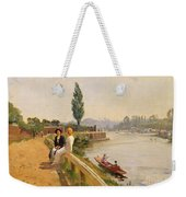 The Thames At Hampton Court Weekender Tote Bag