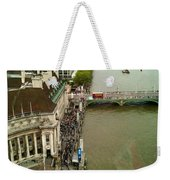 The Thames River And The Flag Of England Weekender Tote Bag
