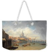 The Thames With Somerset House And St Pauls Cathedral Weekender Tote Bag