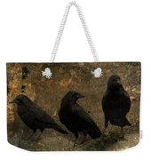 The Three Black Crows Weekender Tote Bag