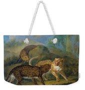 The Three Leopards Weekender Tote Bag