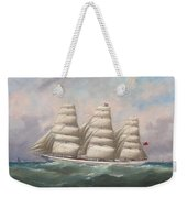 The Three-master Hahnemann In Full Sail Off A Headland Weekender Tote Bag