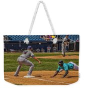 The Throw To First Weekender Tote Bag by Karol Livote