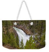 The Thundering Lower Yellowstone Falls Weekender Tote Bag