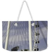 The Top Section Of The Marina Bay Sands As Seen Through The Spokes Of The Singapore Flyer Weekender Tote Bag