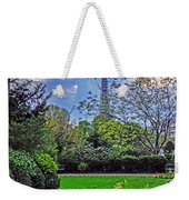 The Tower Over A Garden Weekender Tote Bag
