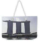 The Towers Of The Iconic Marina Bay Sands In Singapore Weekender Tote Bag