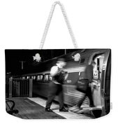 The Train Conductor Weekender Tote Bag by Bob Orsillo