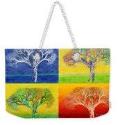 The Tree 4 Seasons - Painterly - Abstract - Fractal Art Weekender Tote Bag by Andee Design