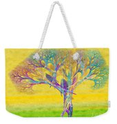 The Tree In Spring At Midday - Painterly - Abstract - Fractal Art Weekender Tote Bag