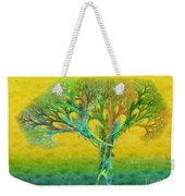The Tree In Summer At Sunrise - Painterly - Abstract - Fractal Art Weekender Tote Bag