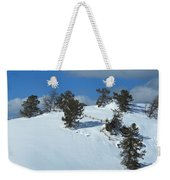 The Trees Take A Snow Day Weekender Tote Bag