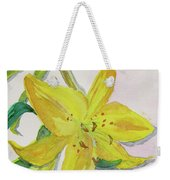 The Trickiness Of Yellow Weekender Tote Bag