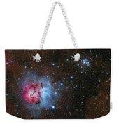 The Trifid Nebula And Messier 21 Weekender Tote Bag
