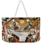 The Trinity Adored By The Duke Of Mantua And His Family Weekender Tote Bag