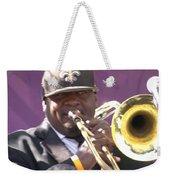 The Trombone Player Weekender Tote Bag