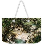 The Turquoise Waters Of The Forest River No2 Weekender Tote Bag