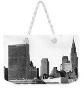 The Un And Chrysler Buildings Weekender Tote Bag